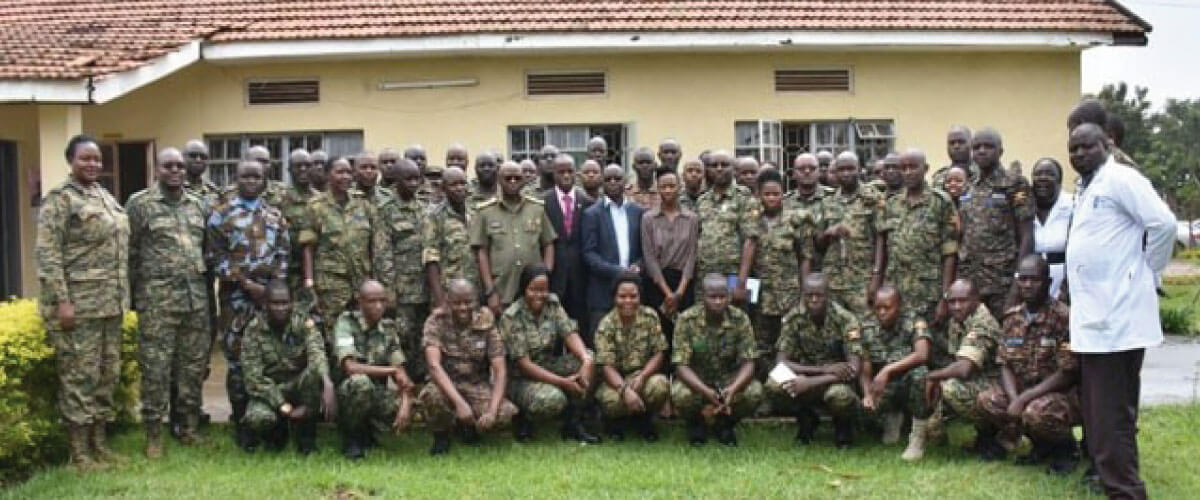 The Ministry of Health under its Case Management structure has started training of the Uganda People's Defence Forces (UPDT) on the COVID-19 pandemic.